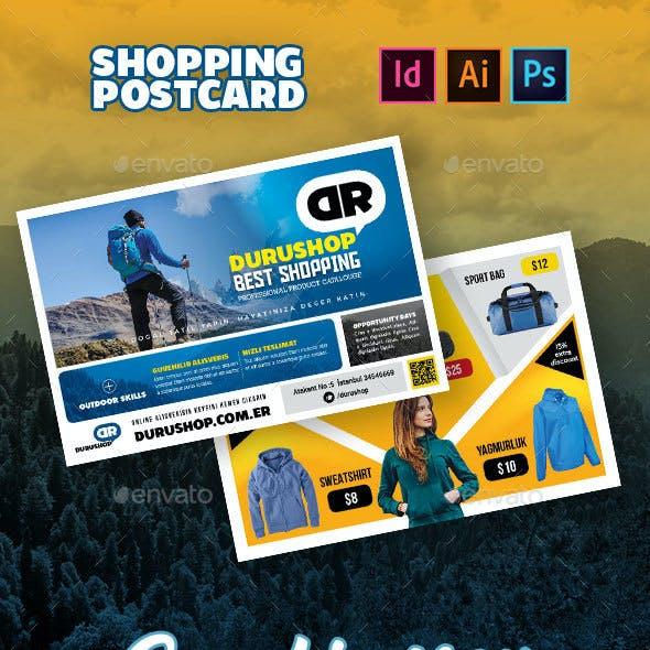 Shopping Postcard Templates