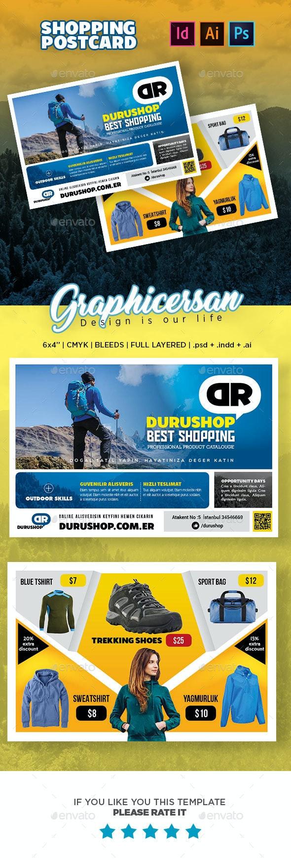 Shopping Postcard Templates - Cards & Invites Print Templates