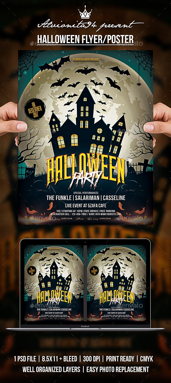 Halloween Flyer / Poster - Clubs & Parties Events