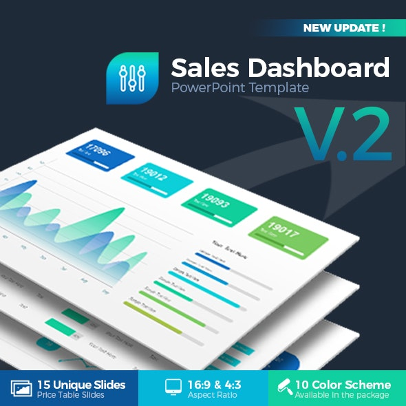 Sales Dashboard PowerPoint Template - Business PowerPoint Templates