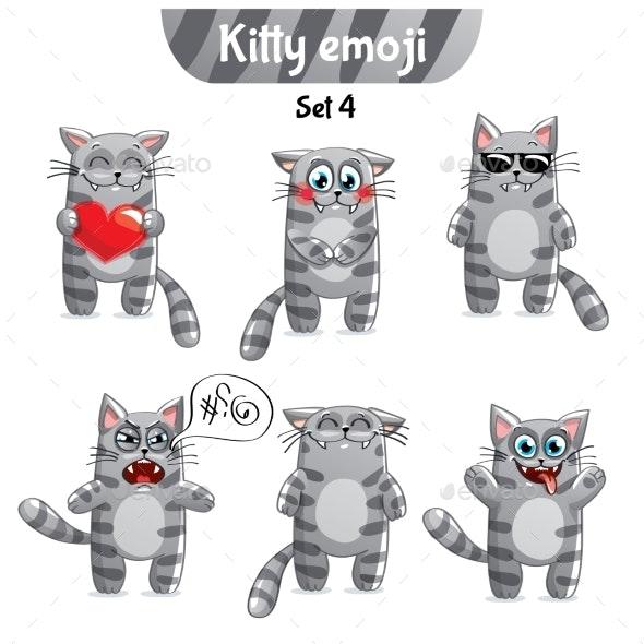 Vector Set of Tabby Cat Characters. Set 4 - Miscellaneous Vectors