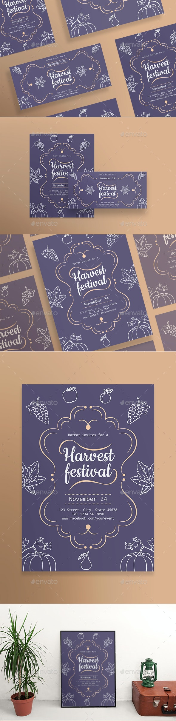 Harvest Festival Flyers - Holidays Events