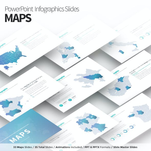 MAPS - PowerPoint Infographics Slides
