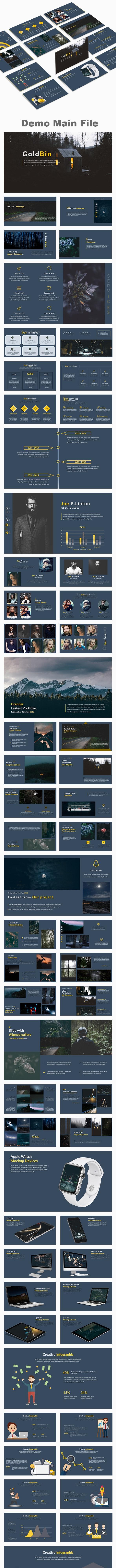 Goldbin Multipurpose PowerPoint Template - Creative PowerPoint Templates