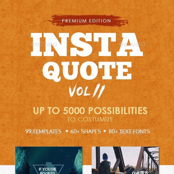 Instagram Quote Vol. 2 - Brush Template