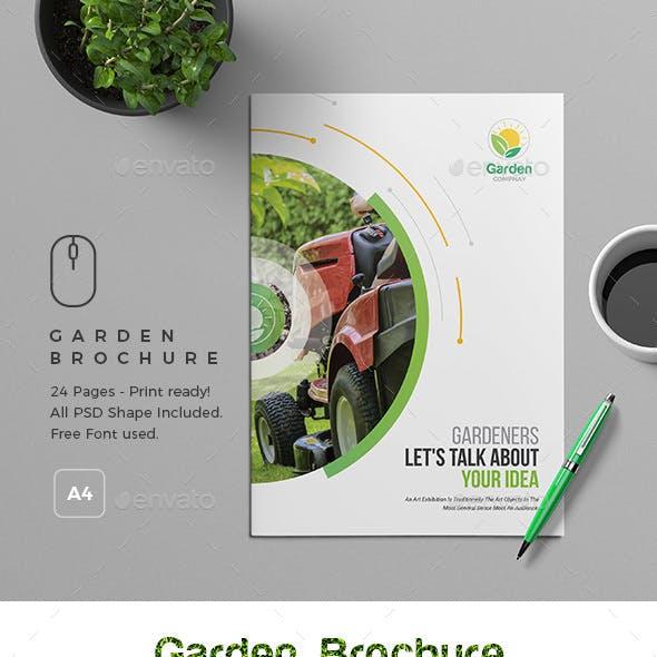 Garden Brochure Template 24 Page