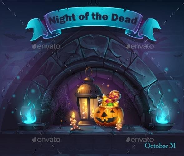 Vector Halloween Cartoon Illustration - Halloween Seasons/Holidays