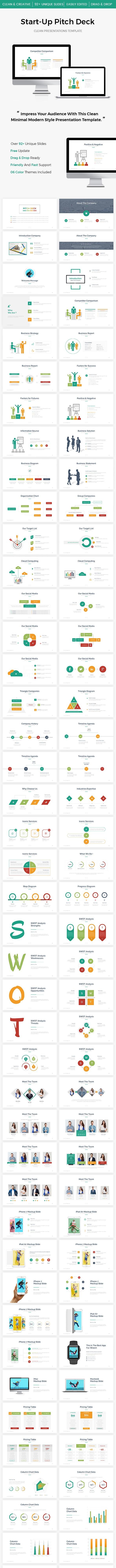 Start-Up Pitch Deck PowerPoint Template 2017 - PowerPoint Templates Presentation Templates