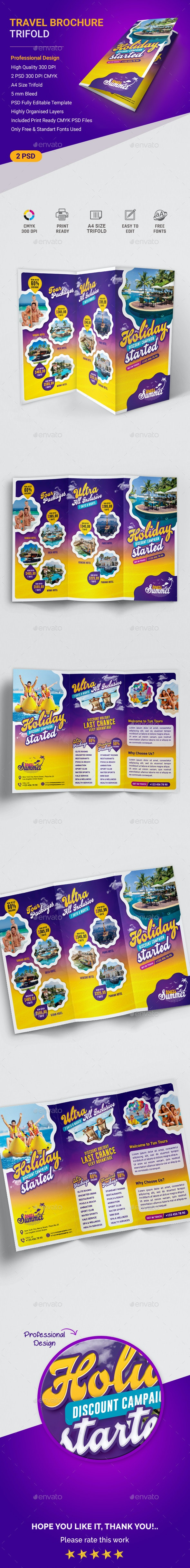 Travel Trifold Brochure - Brochures Print Templates