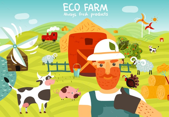 Eco Farm Composition - People Characters