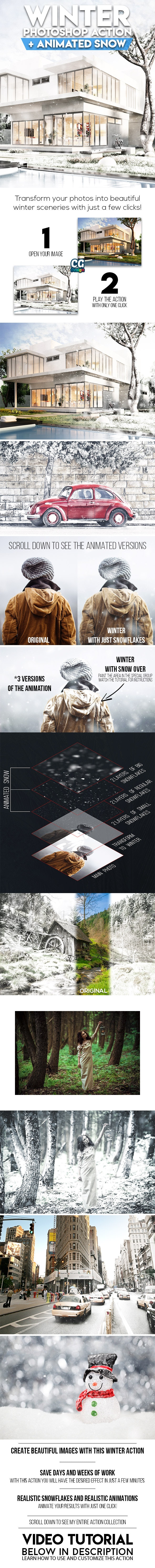 Winter Photoshop Action - Photo Effects Actions