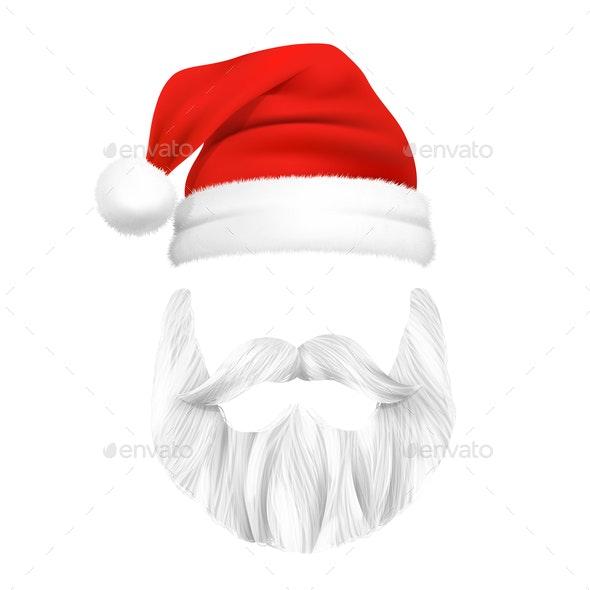 Santa Claus Christmas Mask - Christmas Seasons/Holidays