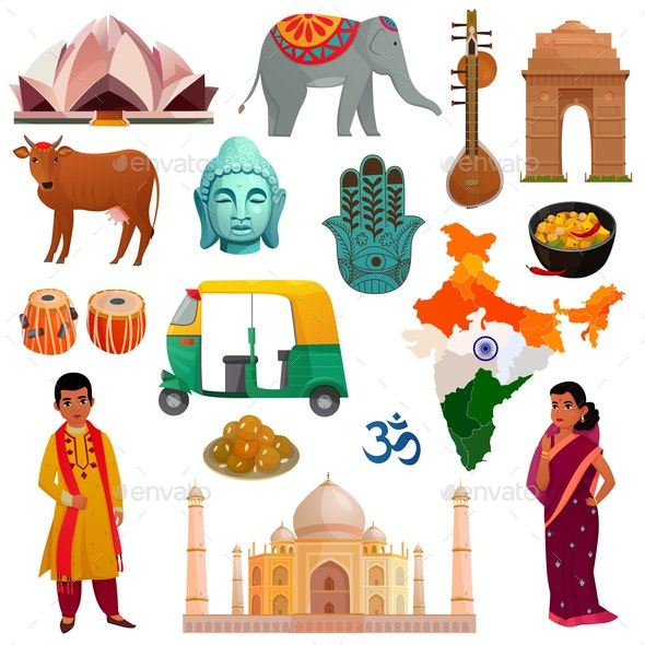 India Travel Set - Travel Conceptual
