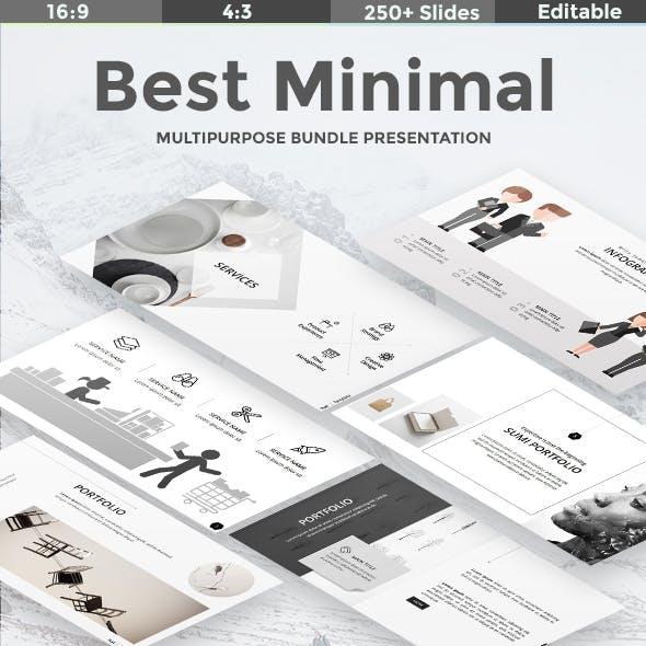 3 in 1 Best Minimal Bundle Powerpoint Template