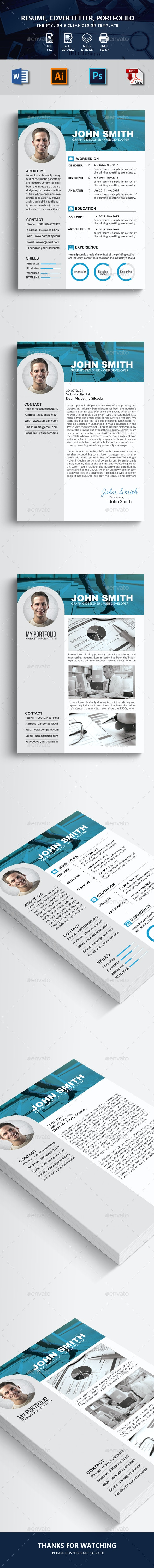 Resume Template 3 Pages - Resumes Stationery