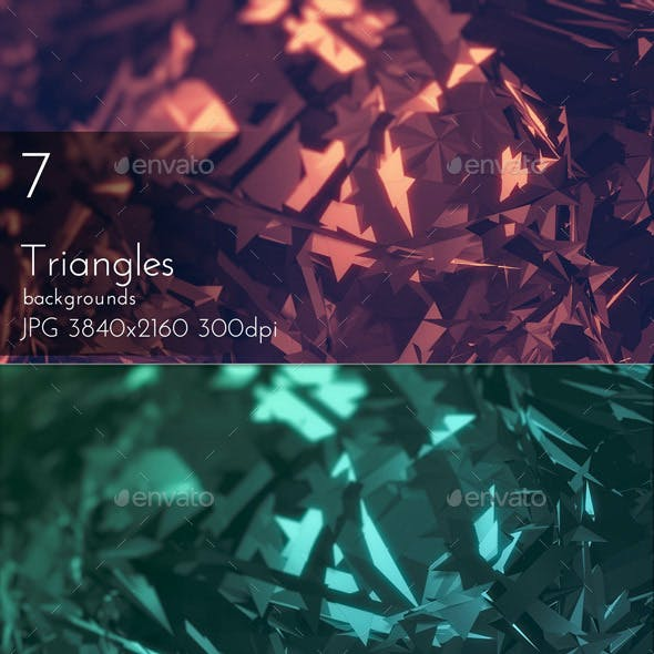 Triangular Polygons Abstract Backgrounds