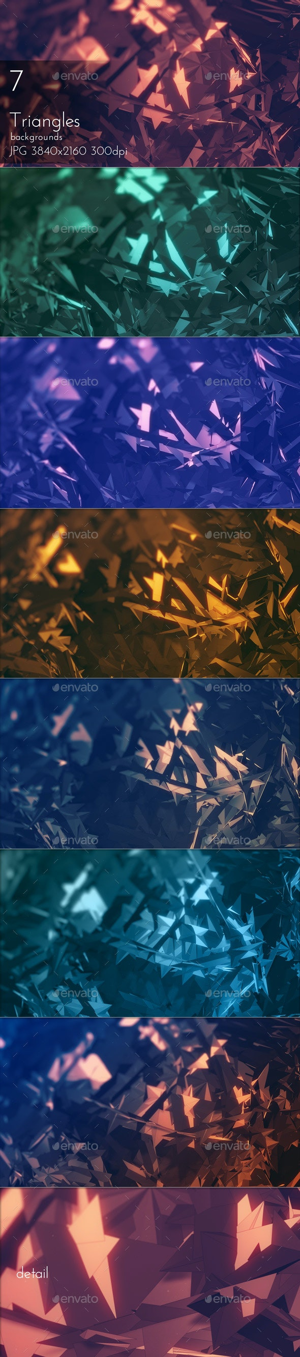 Triangular Polygons Abstract Backgrounds - Tech / Futuristic Backgrounds
