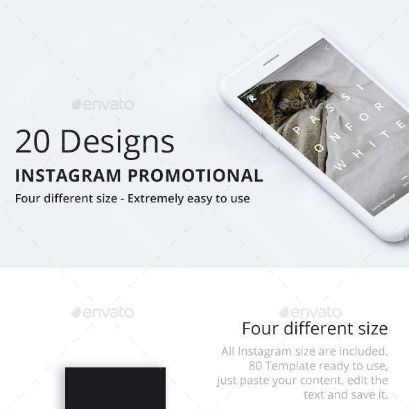 20 Instagram Promotional Template