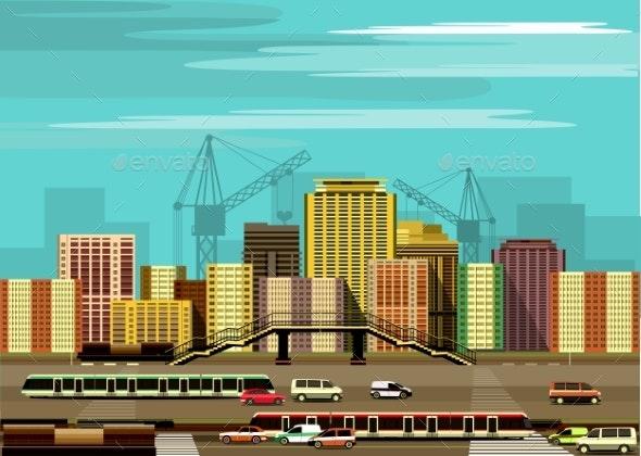City Buildings and Freeway - Miscellaneous Vectors