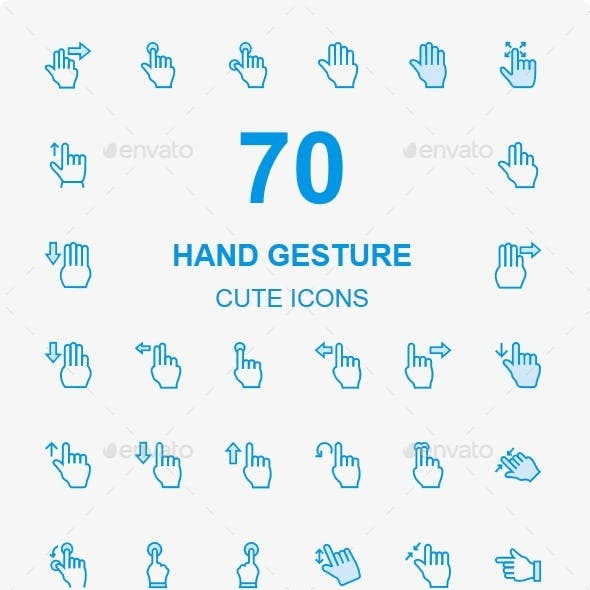 50+ Hand Gesture Cute Style icons