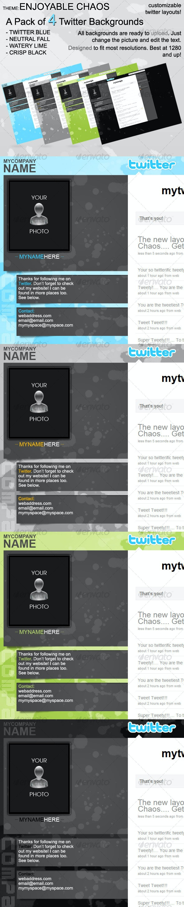 4 Customizable Twitter Layouts - Miscellaneous Web Elements