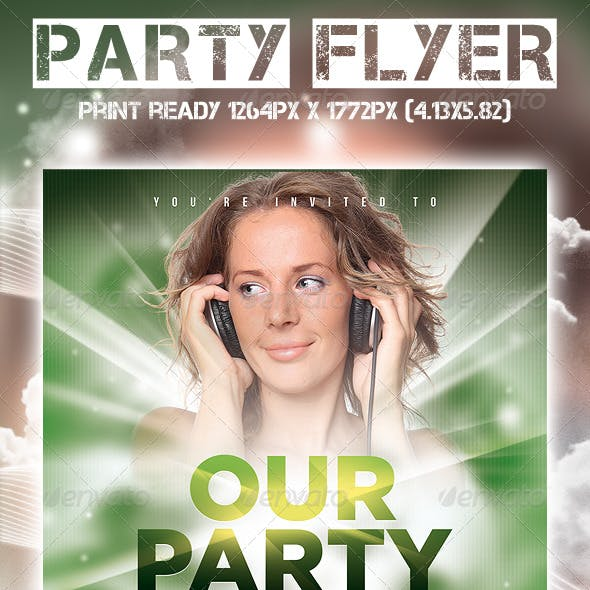 Our Party Flyer