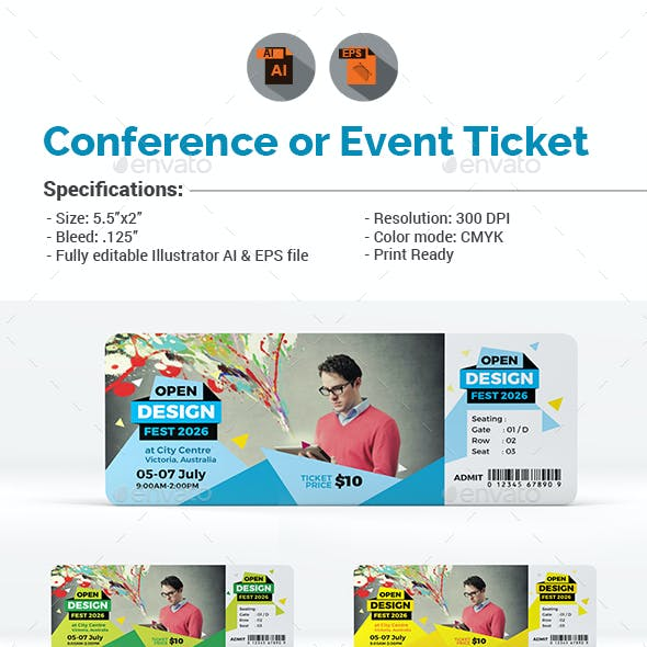 Conference or Event Ticket Template