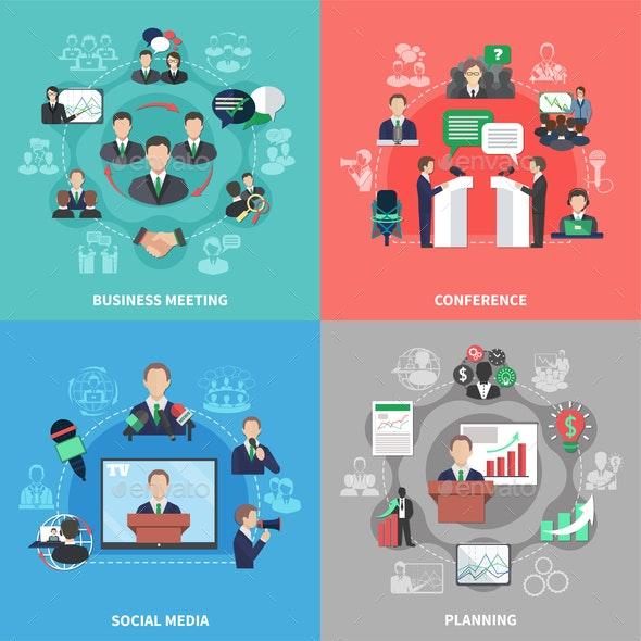Business Meeting Design Concept - Business Conceptual