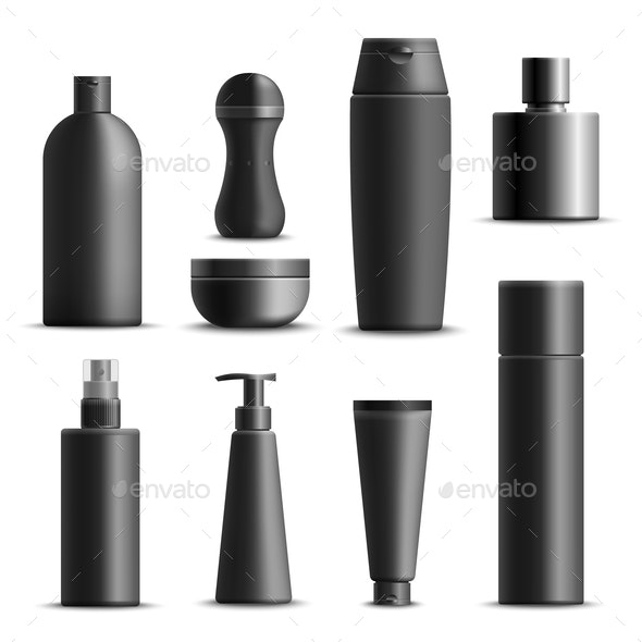 Mens Cosmetics Realistic Set - Miscellaneous Vectors