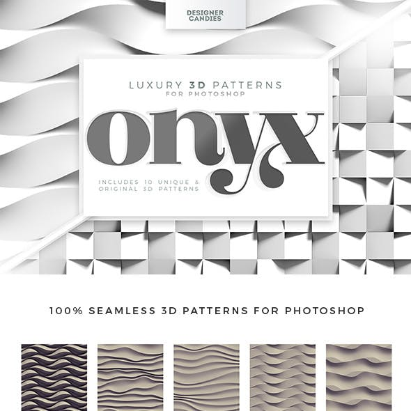 ONYX - 3D Patterns for Adobe Photoshop