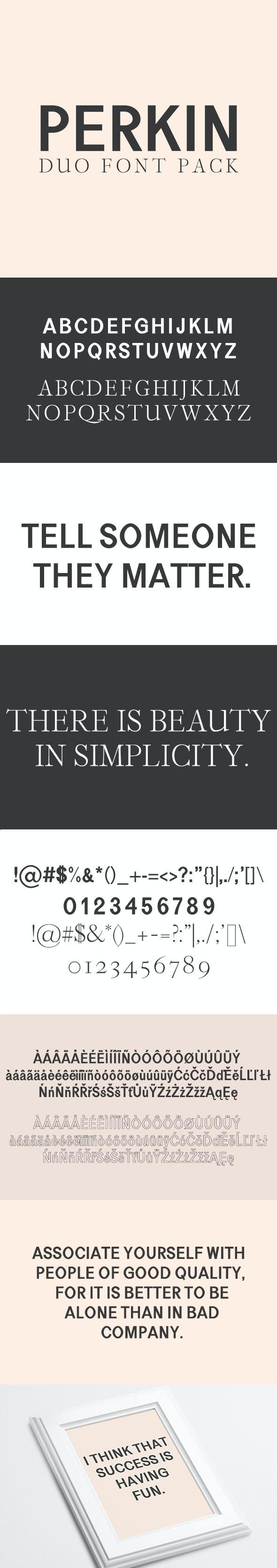 Perkin   Duo Font - Sans-Serif Fonts