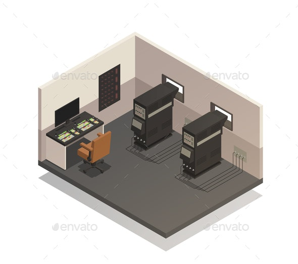 Empty Cinema Projectionist Room - Miscellaneous Vectors