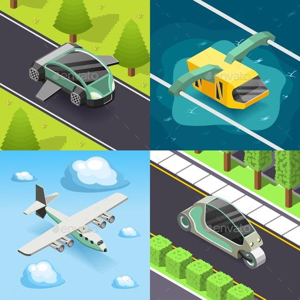 Future Transport 2x2 Design Concept - Computers Technology