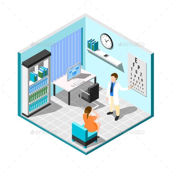 At Eye Doctors Composition - Health/Medicine Conceptual