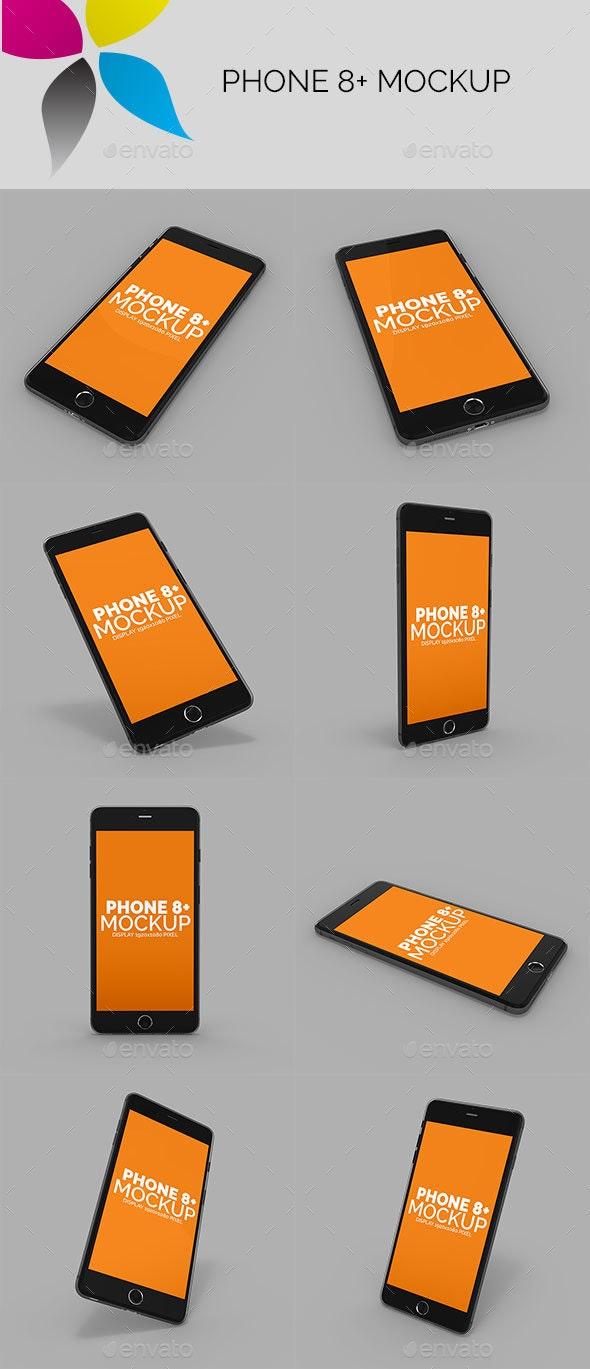 Phone 8 Plus Mockup - Mobile Displays