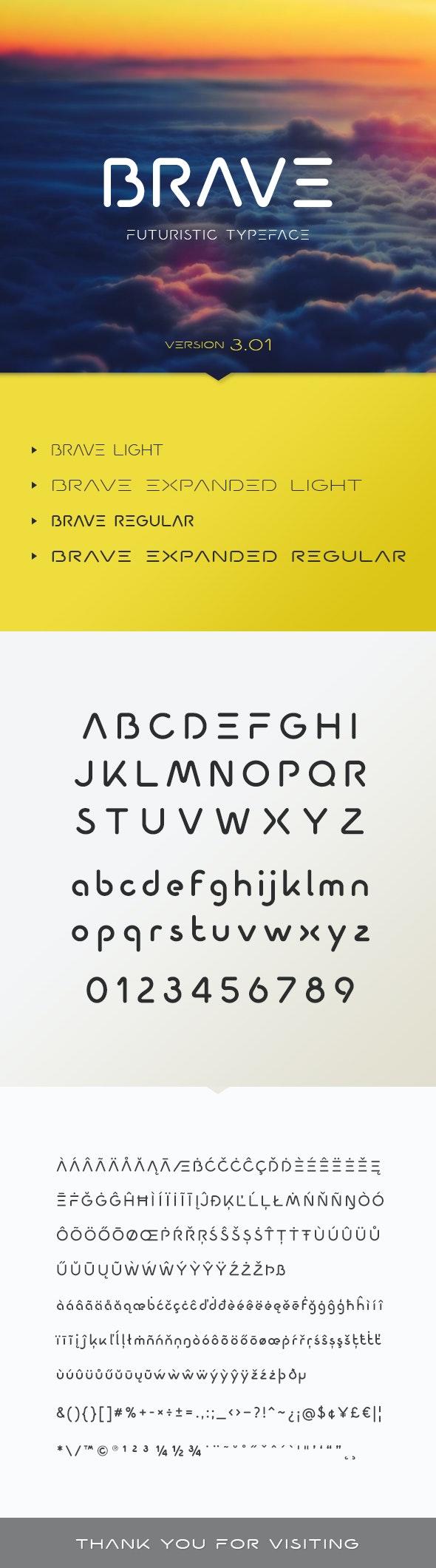 Brave Typeface - Futuristic Decorative