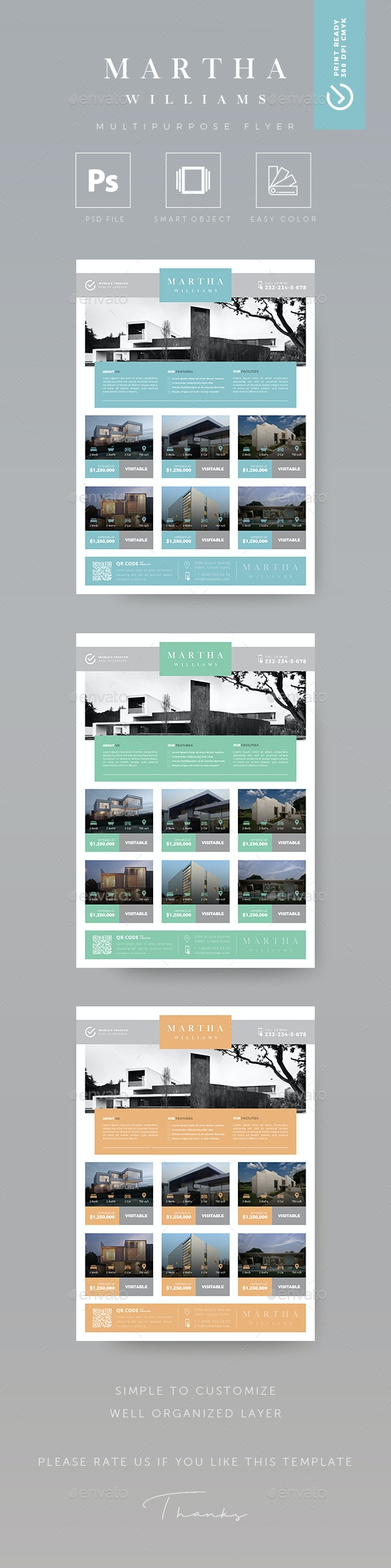 Minimalist - Creative Real Estate Flyer - Flyers Print Templates