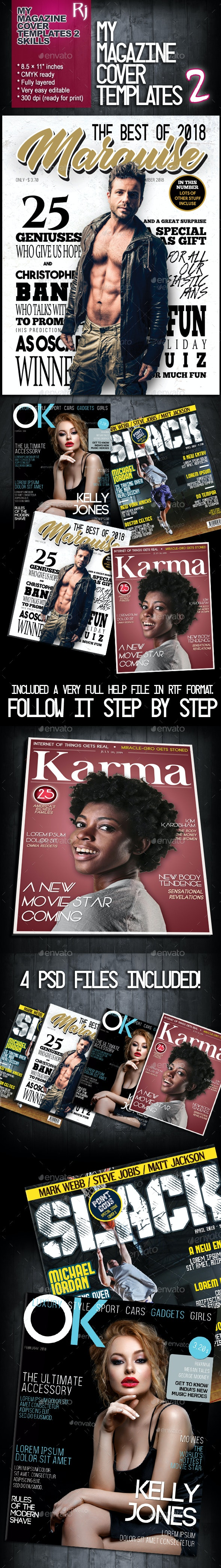 My Magazine Cover Templates 2 - Magazines Print Templates