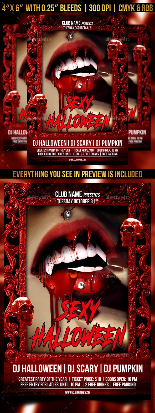 Sexy Halloween Flyer Template - Clubs & Parties Events