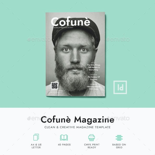 Cofune Magazine - 40 Pages Indesign Template