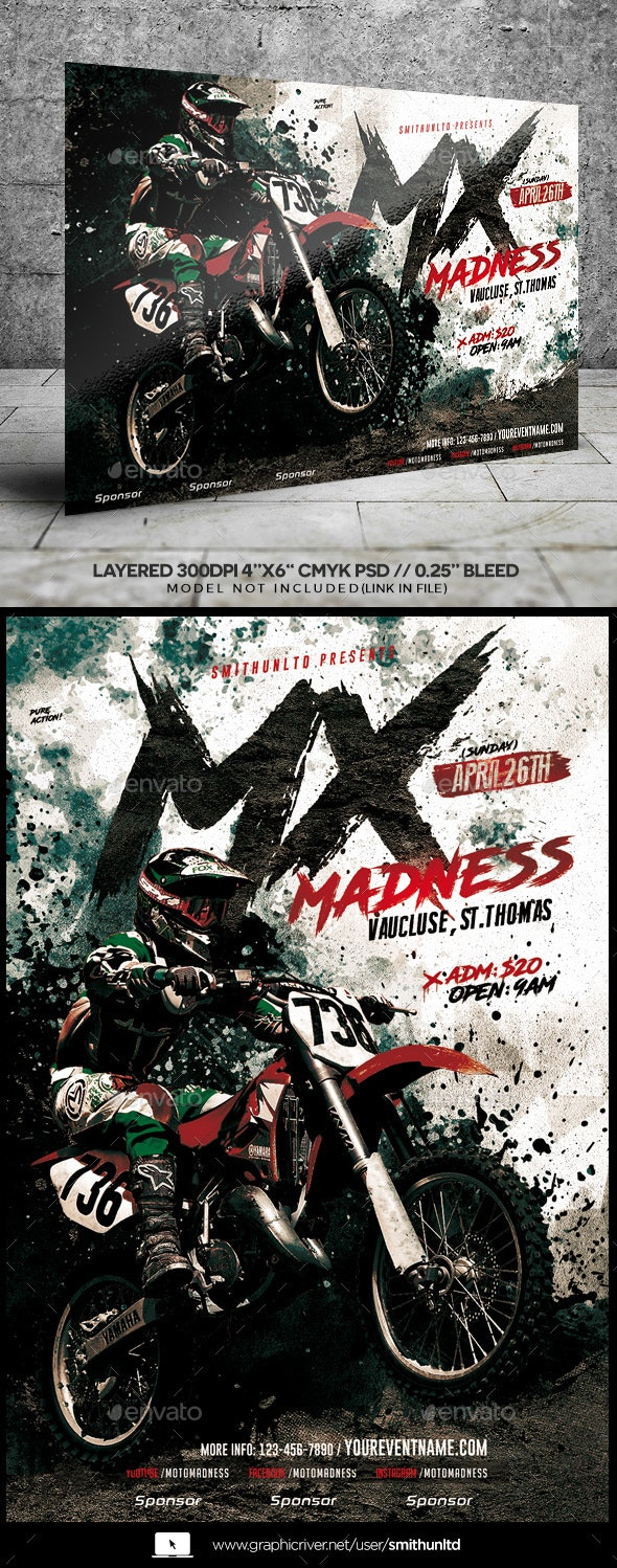 Motocross Madness Event Flyer - Miscellaneous Events