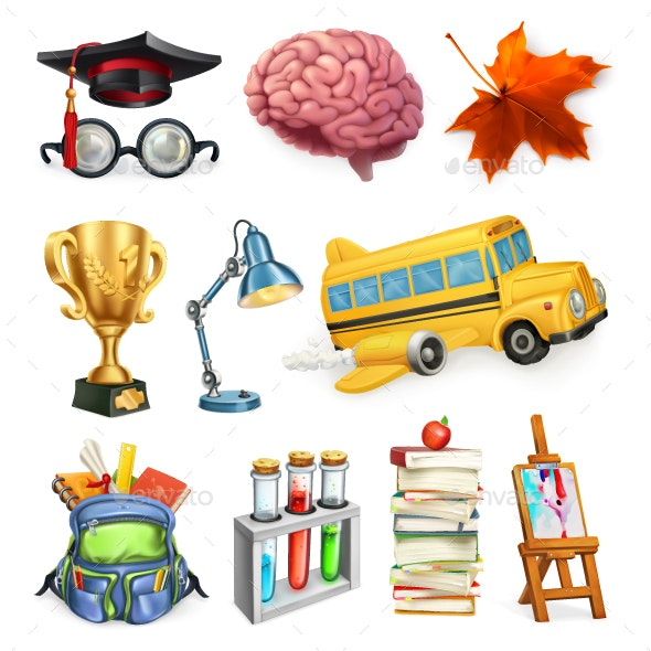 School and Education - Miscellaneous Vectors