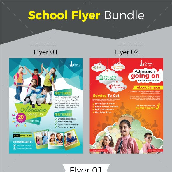 School Flyer Bundle