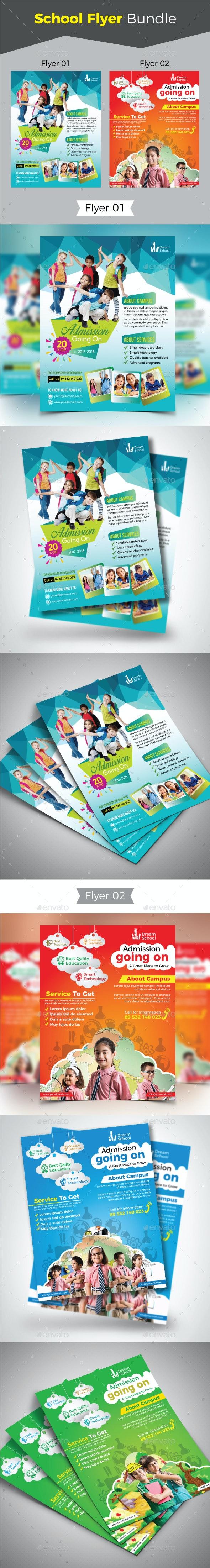 School Flyer Bundle - Flyers Print Templates