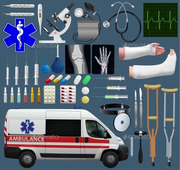Medical Set - Health/Medicine Conceptual