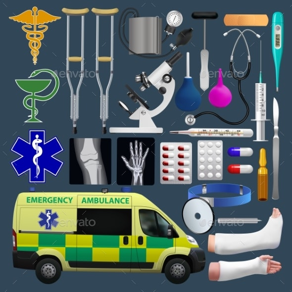 Medical Equipment Set - Health/Medicine Conceptual