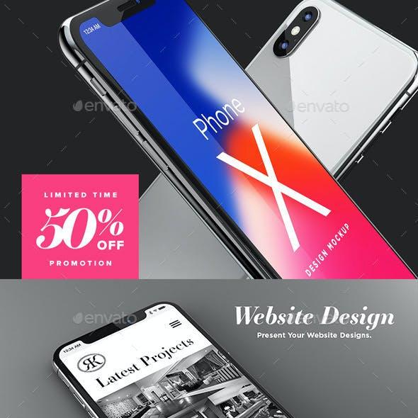 Phone X Design Mockup