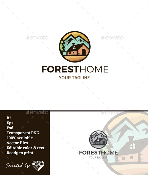 Forest Home - Buildings Logo Templates