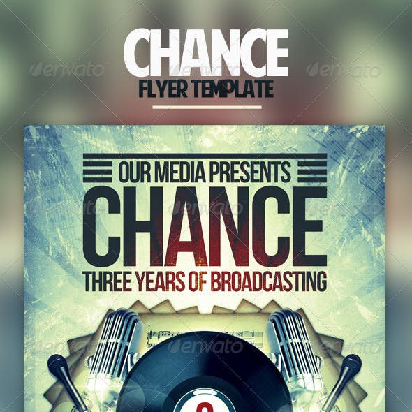 Chance Flyer Template
