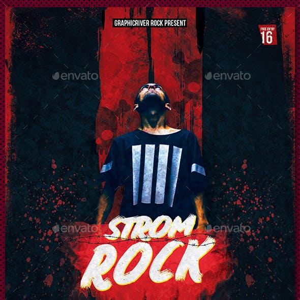 Strom Rock Concert Flyer